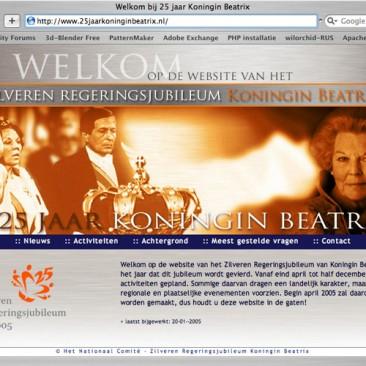 25 jaar Koningin Beatrix  (website niet meer actief)